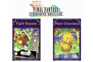 英語版「FINAL FANTASY AIRBORNE BRIGADE」ロゴとイメージ (C)SQUARE ENIX CO., LTD. (C)DeNA Co., Ltd.