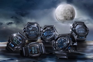 """G-SHOCK""30周年記念モデル第2弾「Initial Blue」(左から)GB-6900AA-A1JR GW-9330B-1JR(上)GB-5600AA-A1JR(下)GA-113B-1AJR GA-303B-1AJR GW-9230BJ-1JR(画像:カシオ計算機)"