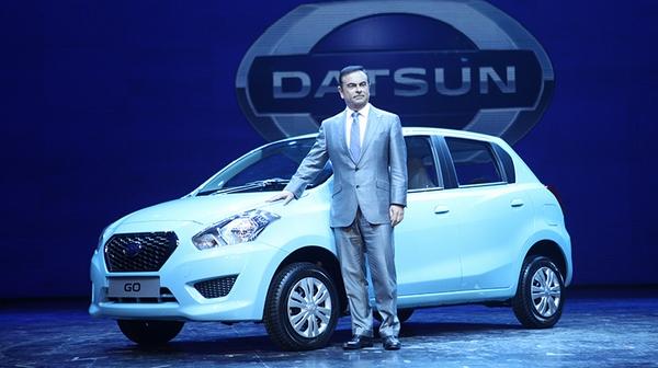2013年7月にインドのデリーでお披露目されたダットサン「GO」(写真提供:日産自動車)