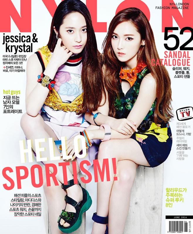 少女時代ジェシカとf(x)クリスタルのグラビアが、ファッションマガジン「