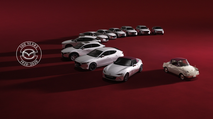 Photo of Mazda,current all models in the 100th anniversary special commemorative model Chief car R360 Coupe