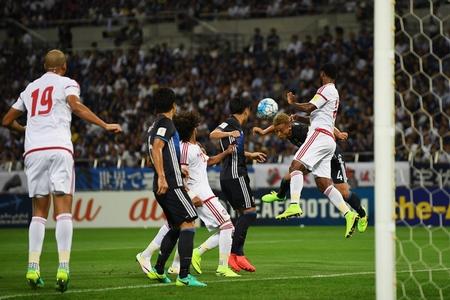 サッカーW杯アジア最終予選、日本はUAEに敗れ黒星スタート