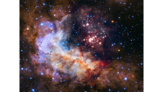 若い星団であるWesterlund 2 (c) NASA, ESA, the Hubble Heritage Team (STScI/AURA), A. Nota (ESA/STScI), and the Westerlund 2 Science Team