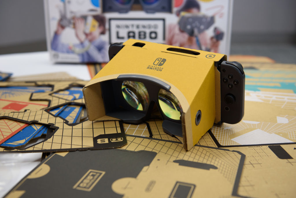 任天堂、SwitchでVRゲーム遊べる「Nintendo Labo Toy-Con 04: VR Kit」発売